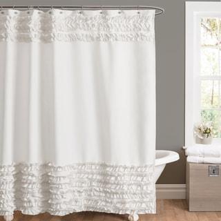 Lush Decor Amelie Ruffle Shower Curtain