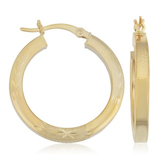 Fremada 14k Yellow Gold Hoop Earrings, 1""