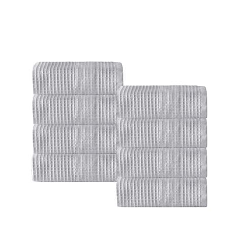 Enchante Home Ria Wash Towel (Set of 8) - Washcloths 12 x 12