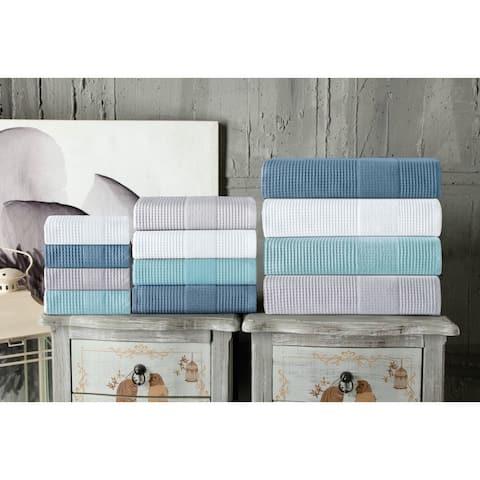 Enchante Home Ria Wash Towel (Set of 8) - Washcloths 12 x 12