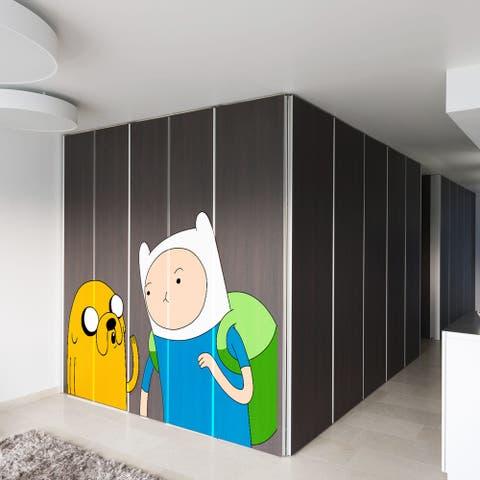Full Color Adventure Time Finn The Human Jake Full Color Wall Decal Sticker Sticker Decal (33x45)