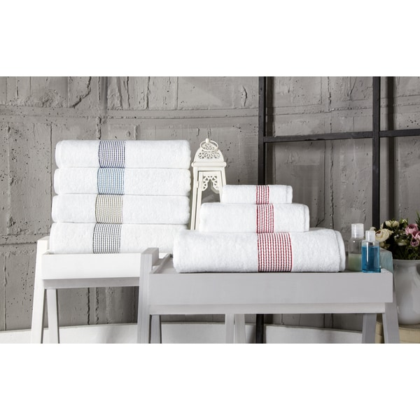 Enchante Home Elegante 6-Piece Turkish Cotton Towel Set