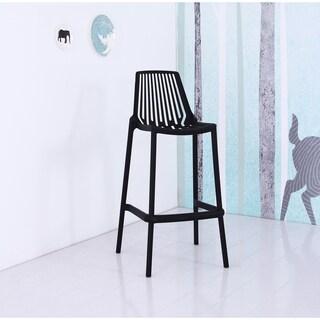 US Pride Furniture Nina Plastic Full Stackable Bar Stools (Set of 4)