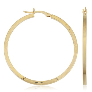 "Fremada 14k Yellow Gold Hoop Earrings, 1.6"""