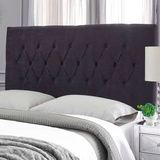 Humble + Haute Hudson Black Suede Upholstered Headboard|https://ak1.ostkcdn.com/images/products/15202367/P21678862.jpg?impolicy=medium