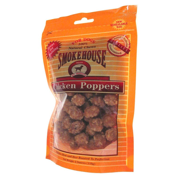 Smokehouse Pet Products 4 Oz Chicken Poppers Dog Treats (...
