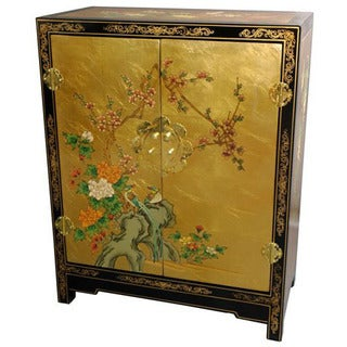 Handmade Gold Leaf Lacquer Cabinet (China)