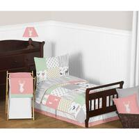 Sweet Jojo Designs Coral and Mint Woodsy Comforter Set