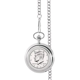 Smithsonian Institution Proof JFK Half Dollar Pocket Watch