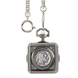 Smithsonian Institution Buffalo Nickel Pocket Watch|https://ak1.ostkcdn.com/images/products/15208257/P21685529.jpg?impolicy=medium
