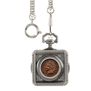 Smithsonian Institution Indian Penny Pocket Watch