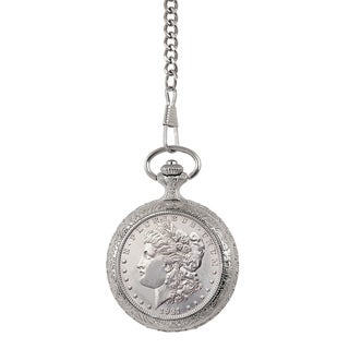 Smithsonian Institution Brilliant Uncirculated Morgan Silver Dollar Pocket Watch