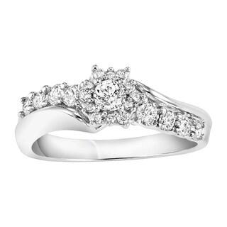 Cambridge 10k White Gold 5/8ct TDW Engagement Ring