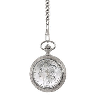 Smithsonian Institution Brilliant Uncirculated 1800's New Orleans (O) Mint Morgan Silver Dollar Pocket Watch