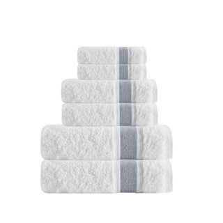 Enchante Home Unique 6-Piece Turkish Cotton Towel Set (Option: Anthracite)