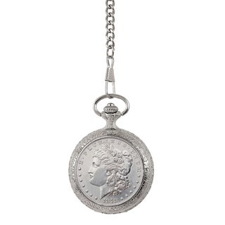 Smithsonian Institution Brilliant Uncirculated 1878 First Year of Issue Morgan Silver Dollar Pocket Watch