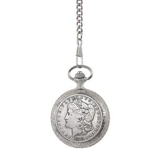 Smithsonian Institution 1800's Morgan Silver Dollar Pocket Watch