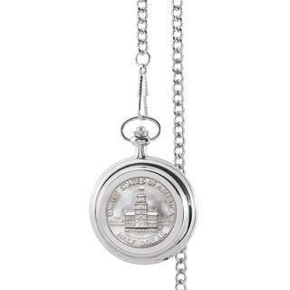 Smithsonian Institution JFK Bicentennial Half Dollar Pocket Watch