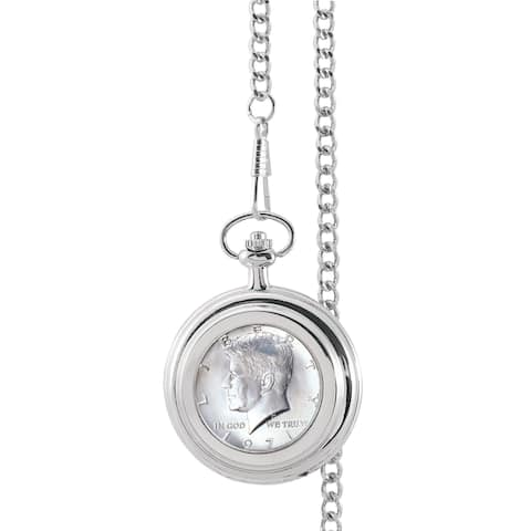 Smithsonian Institution JFK Half Dollar Pocket Watch - Silver