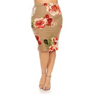 Women's Plus-size Rose Pencil Skirt