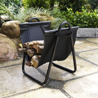 Logan Firewood Storage Carrier in Black