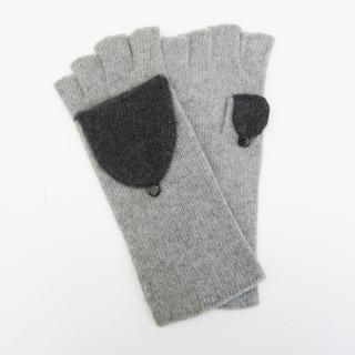Portolano Grey Cashmere Flip-top Mitten