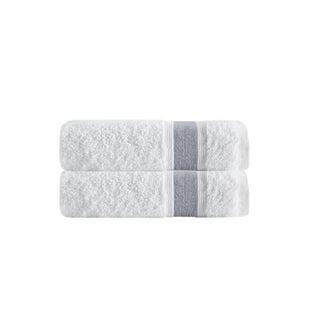 Enchante Home Unique Turkish Cotton Bath Towels (Set of 2) (Option: Anthracite)