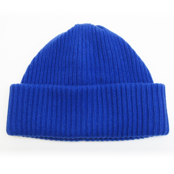 4a371bb7 Shop Portolano Cashmere Ribbed 4-ply Beanie Hat with Folded Cuff ...