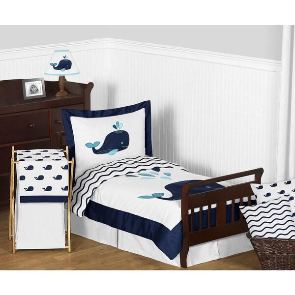 Sweet Jojo Designs Whale Collection Comforter Set