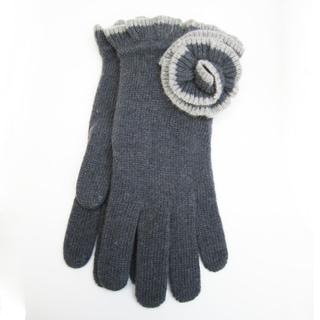 Portolano Grey Cashmere Flower Gloves