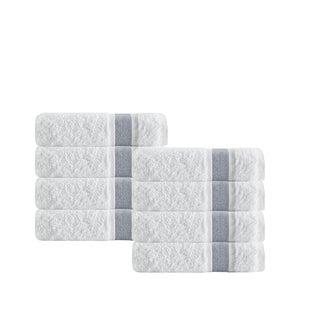 Enchante Home Unique Turkish Cotton Hand Towels (Set of 8)