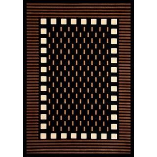 "Marik Chocolate/Beige/Black/Ivory Area Rug by Greyson Living (7'9"" x 10'6"")"
