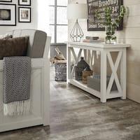 Home Styles Seaside Lodge White Mahogany/ Veneer Console Table
