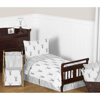 Sweet Jojo Designs Grey and White Stag Comforter Set