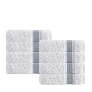 Enchante Home Unique Turkish Cotton Washcloths (Set of 8)