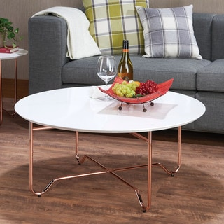 Acme Furniture Canty White/RoseGold Coffee/End Table