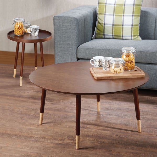 Acme Furniture Dein Walnut Wood/Veneer Coffee End Table