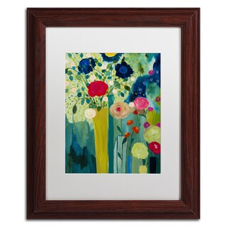 Carrie Schmitt 'Surround Yourself With Beauty' Matted Framed Art