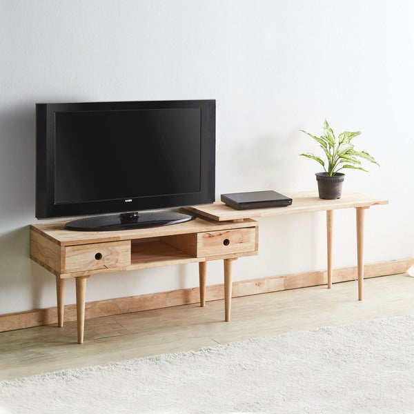 Acme Furniture Garnet Natural Coffee Table and Extension Top Free