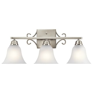 Kichler Lighting Bixler Collection 3-light Brushed Nickel LED Bath/Vanity Light