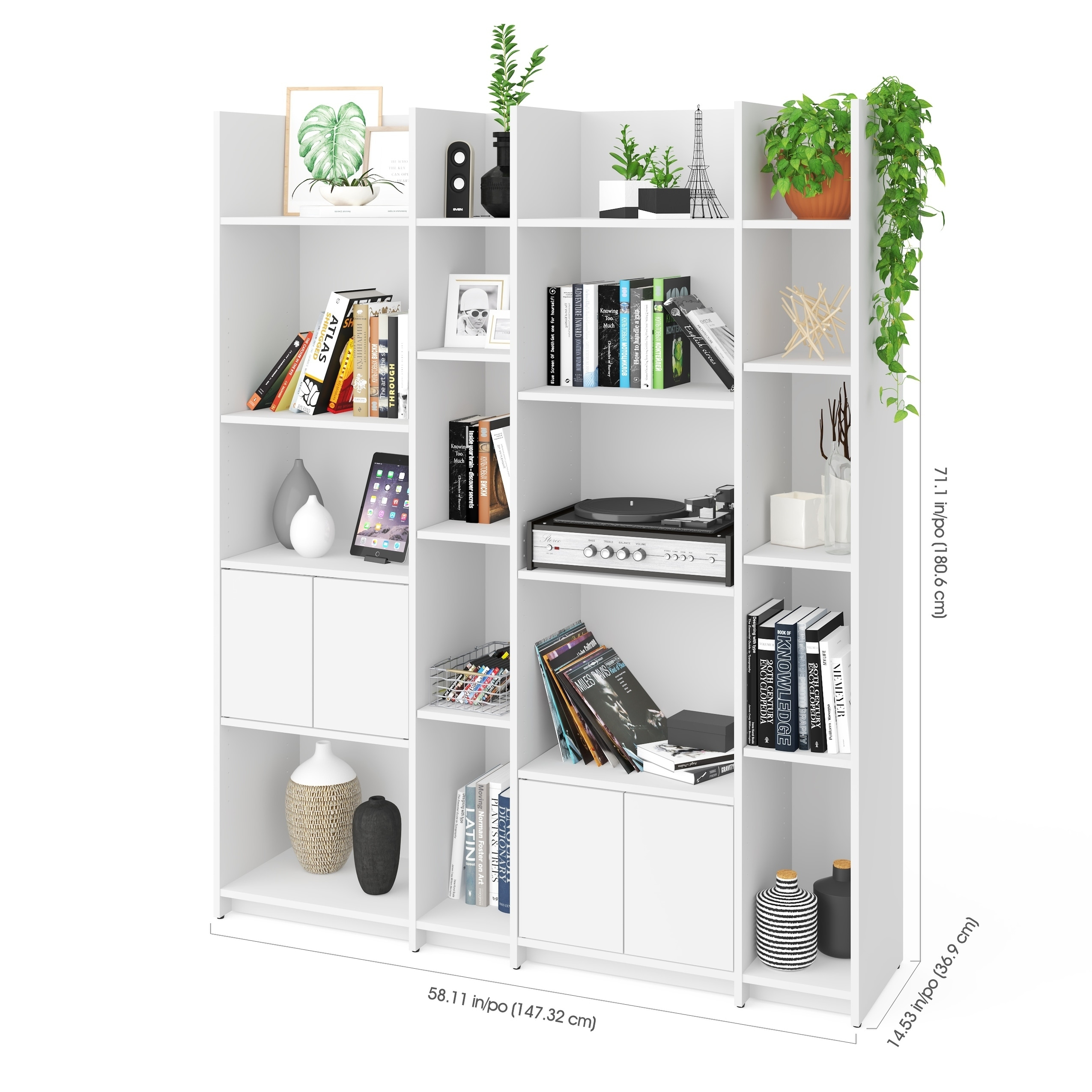 Bestar Small E Storage Wall Unit