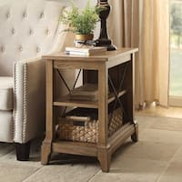 Acme Furniture Hiroko Oak Side Table