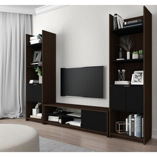 Bestar Small Space 3-Piece TV Stand and 2 Storage Towers Set