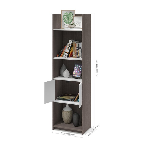 Bestar Small Space 2 Piece TV Stand And Storage Tower Set   Free Shipping  Today   Overstock.com   21686511