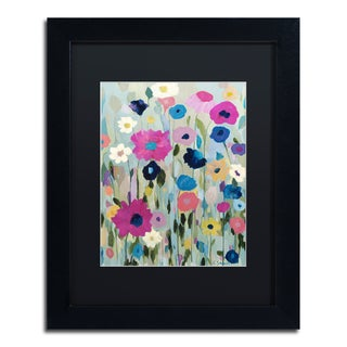 Carrie Schmitt 'Wild Flowers' Matted Framed Art