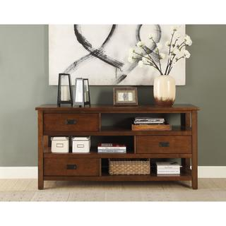 Acme Furniture Fisher Walnut MDF and Veneer Console Table
