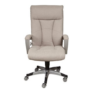 Sealy Posturpedic Brown Sandstone Fabric Cool Foam Office Chair