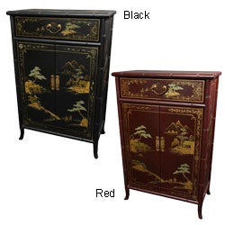 Elm Wood Japanese-style Shoe Cabinet (China)