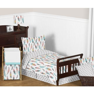 Sweet Jojo Designs Feather Comforter Set
