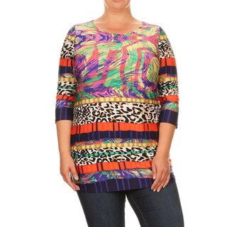Women's Multi Pattern Plus Size Tunic
